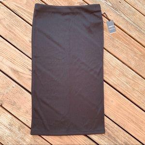 NWT Forever 21 Bodycon Black Pencil Skirt